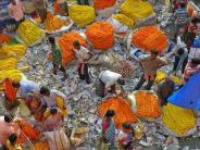ಕೋಲ್ಕತ್ತಾ ನಗರದಲ್ಲಿರುವ ಮುಲ್ಲಿಕ್ ಘಾಟ್ ಹೂವಿನ ಮಾರುಕಟ್