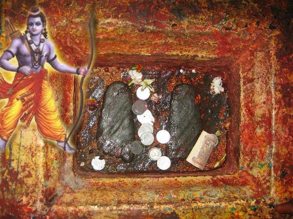 ರಾಮನ ಪಾದದ ಗುರುತನ್ನು ಪೂಜಿಸುವ ಇಲ್ಲಿಗೆ ಭಕ್ತರ ದಂಡೇ ಬರುತ್ತದೆ
