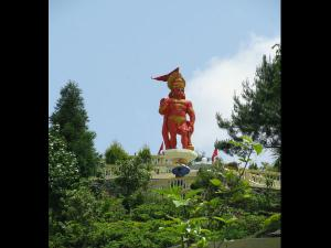 Hanuman Tok Temple With Interesting Background