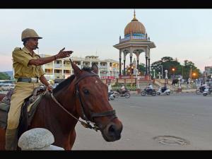 Krishna Rajendra Circle An Attraction Mysore