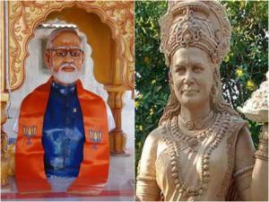 Narendra Modi And Sonia Gandhi Temple In India