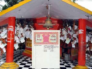 Find Out The Temple Where People Write Their Wishes In Stamp Paper
