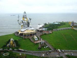 Different Views Murudeshwars Shiva Statue Temple