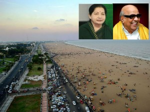 Pay Homage To Karunanidi At Marina Beach Longest Urban Beach